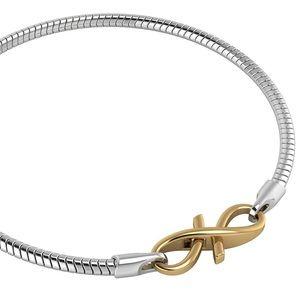 Sterling Silver Bracelet Gold Plated Lock 7 1/4 in